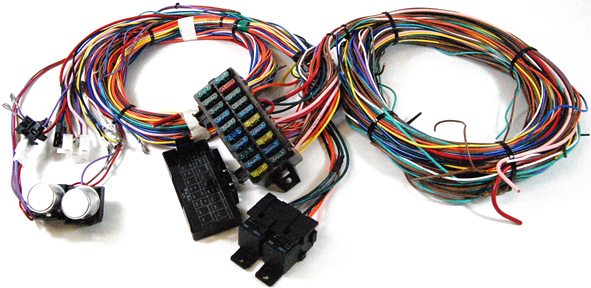 S1002  Circuit Wiring Harness on fuel pump, classic truck, hot rod, best street rod, aftermarket radio, fog light,
