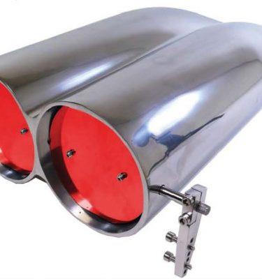 Polished Aluminum Shot Gun Style Air Scoop