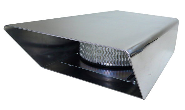 Polished Aluminum Fabricated Air Scoop No Screen Rpc