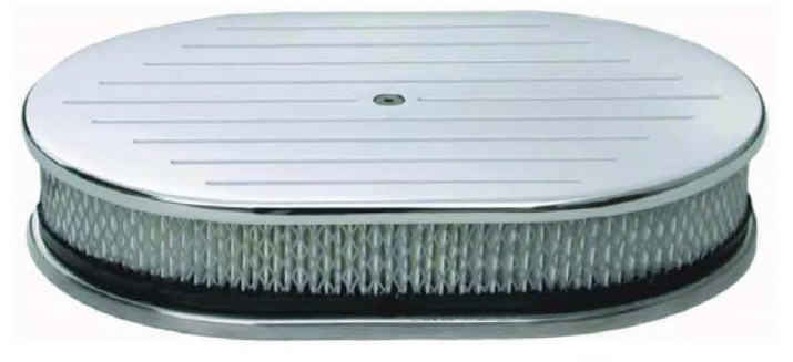 """12"""" x 2"""" Aluminum Oval Air Cleaner Sets"""