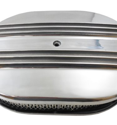 Polished Aluminum Finned Oval Air Cleaner Kits