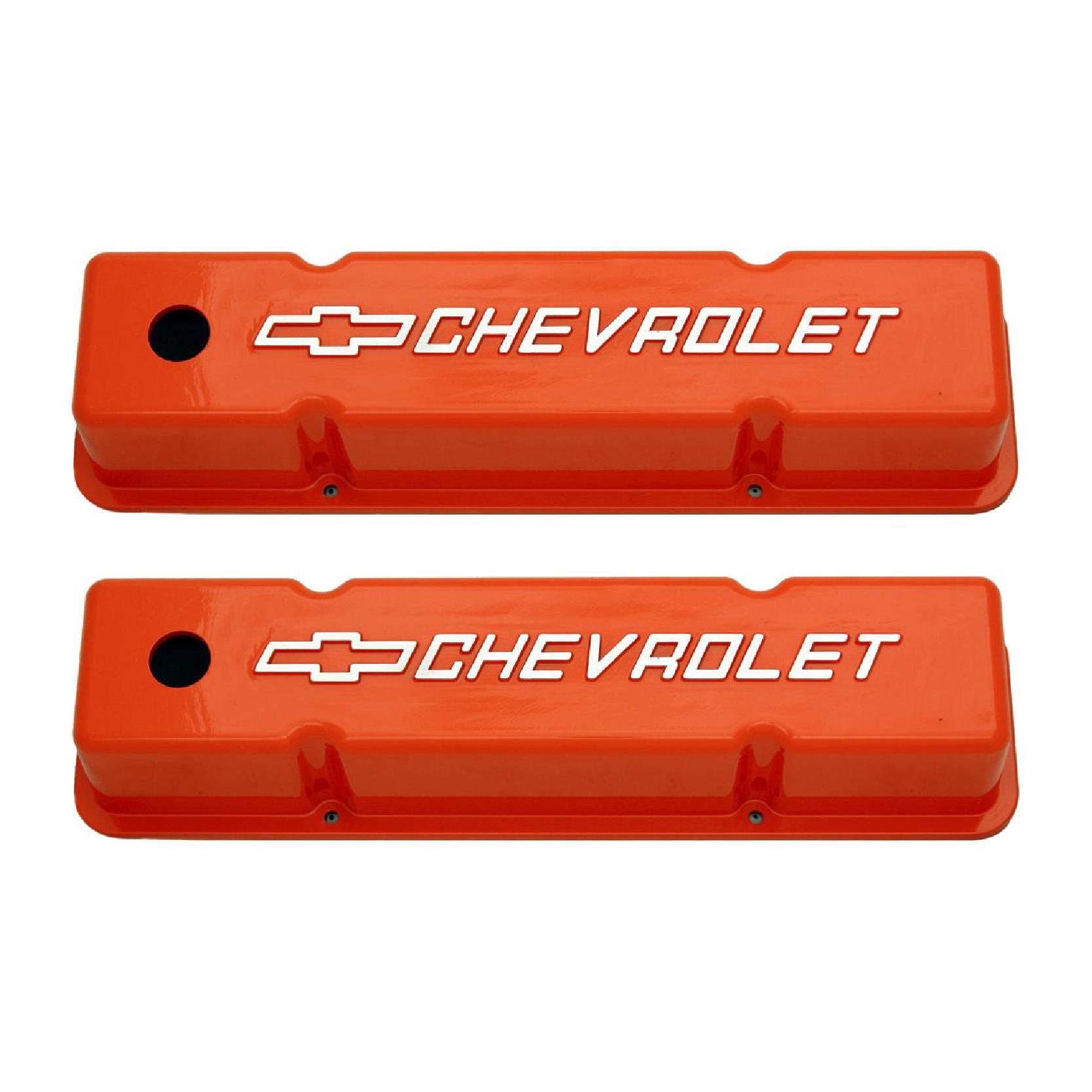 Sbc Cast Aluminum Valve Covers W Chevrolet Logo Racing Power Company
