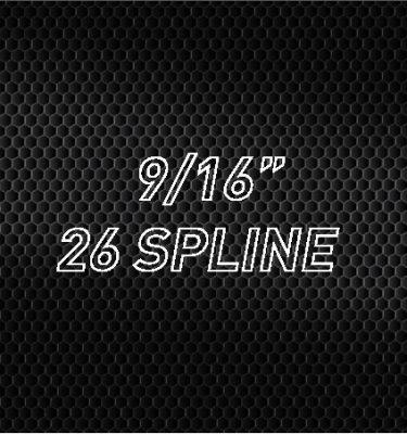"9/16"" 26 Spline"